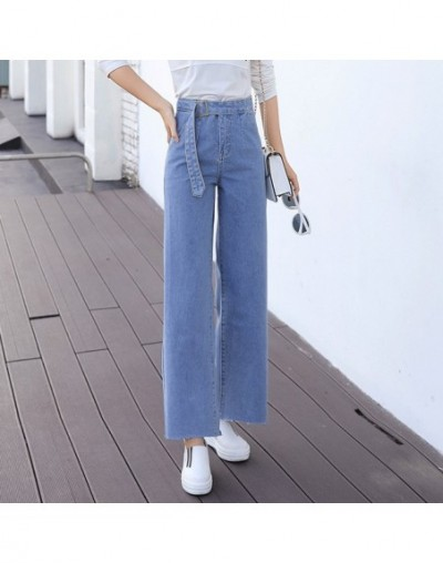 2019 Spring and Autumn new denim jeans mujer wide leg pants feminino ankle-length Korean high waist loose oversize jeans wom...