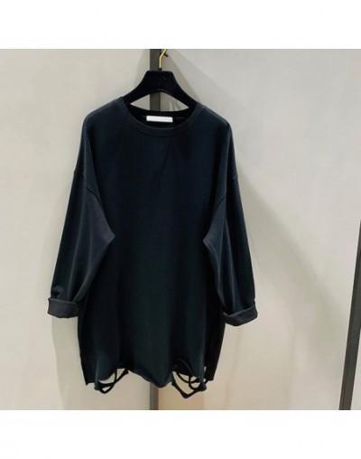 Hole Hem Slim T Shirt Women Korea Fashion New Batwing Sleeve 2019 Autumn Elegant Casual Small Fresh Pullover Tee GCC1519 - b...