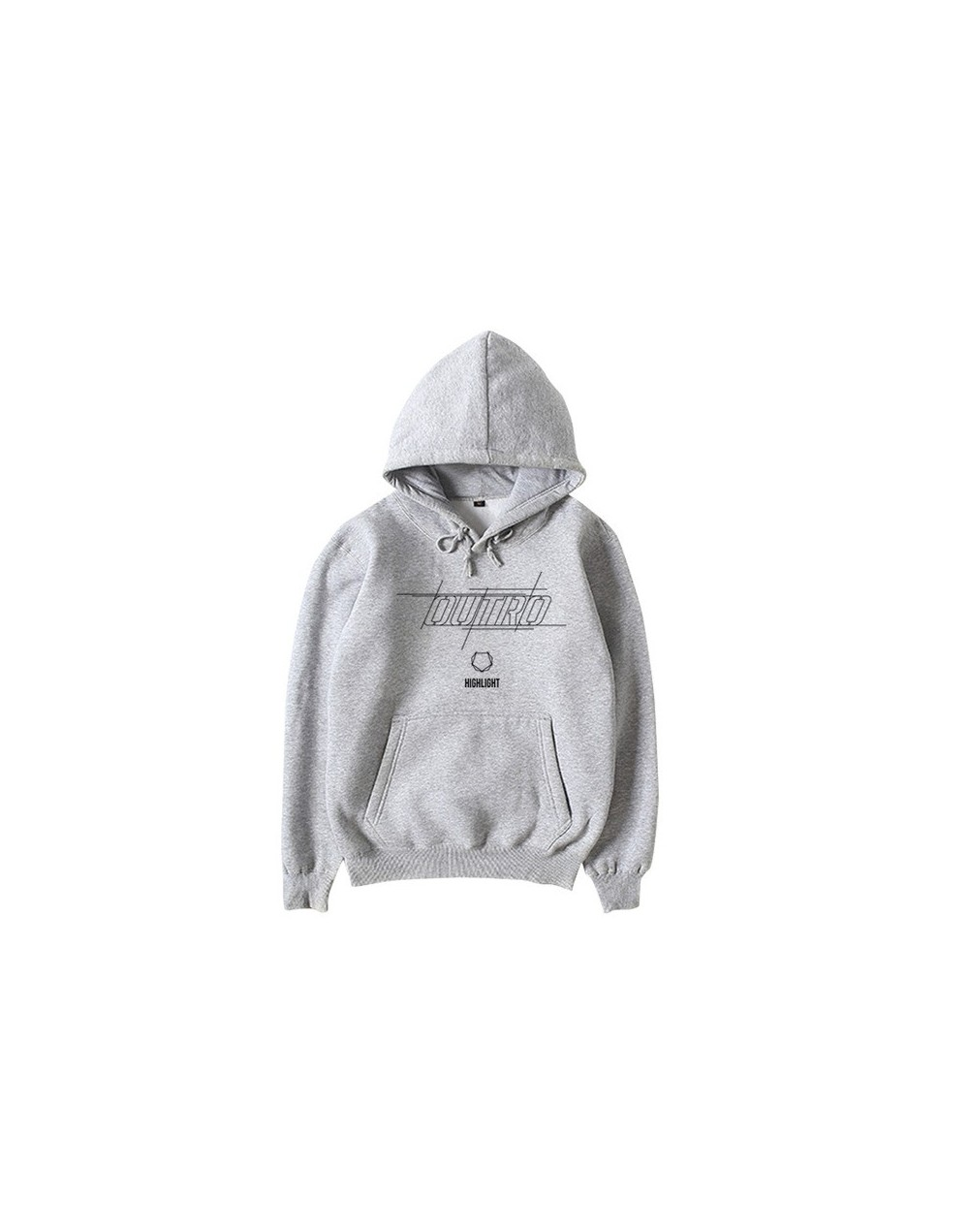 Kpop highlight new album outro same printing pullover hoodies unisex highlight fleece/thin loose sweatshirt 5 colors - thin ...