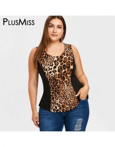 Plus Size 5XL Leopard Printed Sexy Tank Tops Women Summer Tunic Sleeveless Vest Top Female Big Size 2019 XXXXL XXXL XXL - 40...