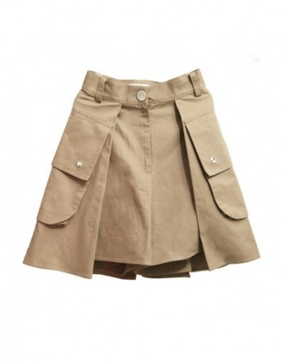 Patchwork Shorts For Women High Waist Bodycon Split Big Pocket Mini Trousers Summer Autumn Fashion Harajuku Clothes - Khaki ...