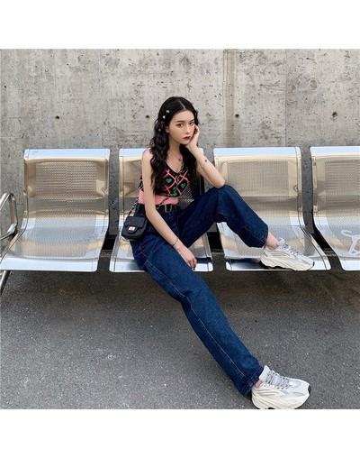 Summer Autumn High Waist Wide Leg Jeans Loose Denim Pants 2019 Long Jeans for Women Femme Wide Pants - Blue - 4G4129674415