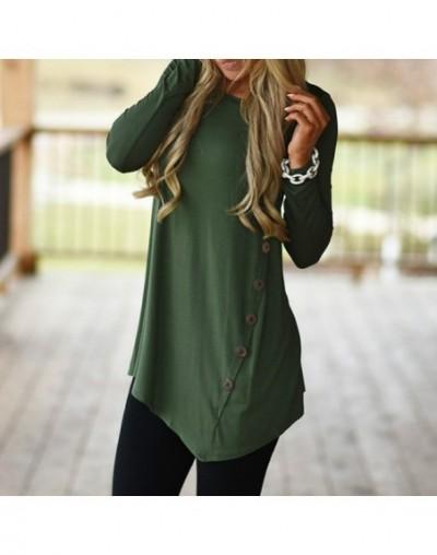 Female Irregular Blouses 2017 Tunic Shirt Autumn Winter Women Long Sleeve Shirts Loose Botton Solid Blusas Top Plus Size - G...