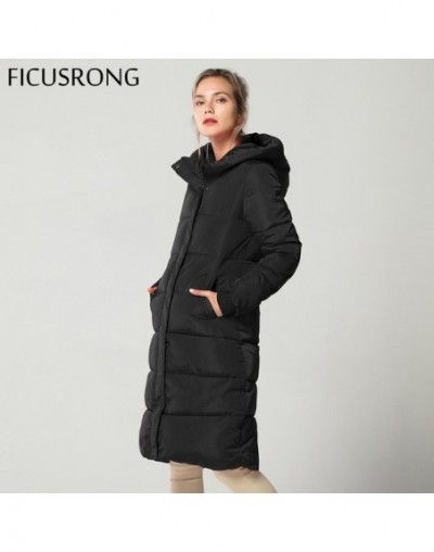 Fashion Winter Jacket Women Thick Warm Female Down Jacket Cotton Coat Down Parkas Long Women Hooded Coat 2018 New FICUSRONG ...