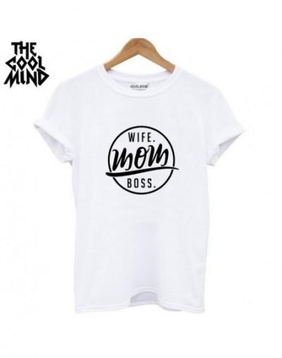 high quality 100% cotton wife mom boss print t shirt women casual cool summer t-shirt women short sleeve Tshirt - WRZ0712-BS...