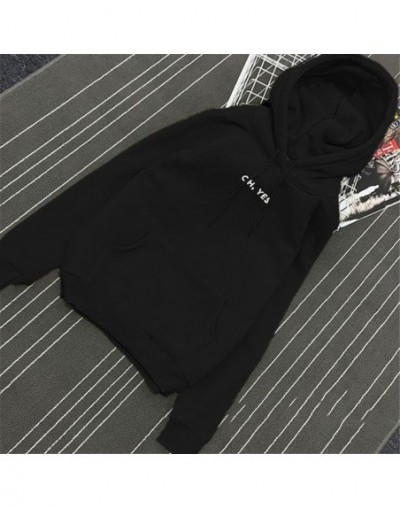 2018 Hoodies Women Casual Lady Sweatshirts Long Sleeve Loose All Match Pocket Autumn Winter Spring Letters Cute Hoodie Fashi...