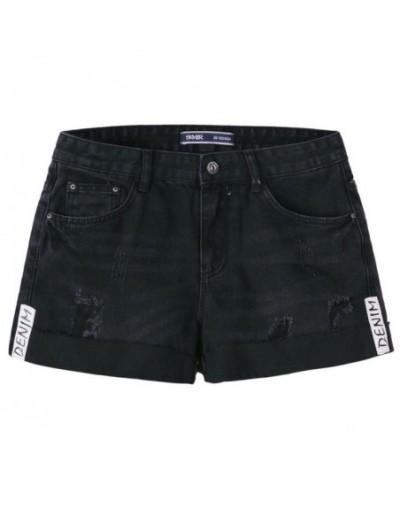 Denim shorts women 2019 summer new hairy hole hot pants students Korean version trend shorts - the cowboy color - 424118855273