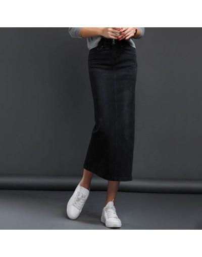 Women Denim Skirt Long Saia Jeans Women's Skirt Denim Skirts For Women Summer Vintage Black Long Skirts Female Saia - Black ...