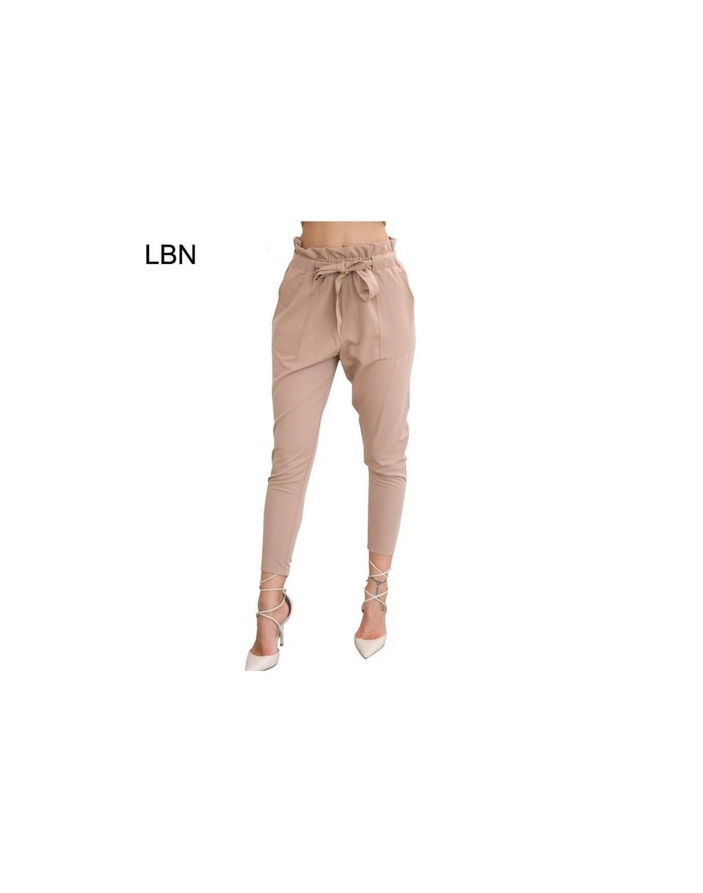 2019 New Brand High Elastic Waist Harem Pants Women Spring Summer Fashion Ninth Pants Female Office Lady Black Trousers Belt...