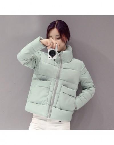 Warm Stand Neck Winter Coat Women Wadded Jackets Loose Solid Parka Korean Ladies Padded Coats Jaqueta Feminina 20351 - Green...