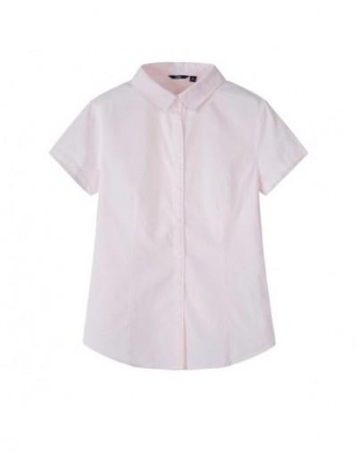 Short sleeve shirt women summer blouse female 2019 new lapel small fresh shirt solid color chic Korean version - red - 4O411...