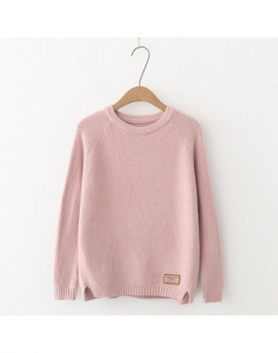 Casual Solid befree Knitted Sweater Women 2018 Autumn Winter Long Sleeve O-neck Pullover Plus Size loose Sweaters Pull Femme...