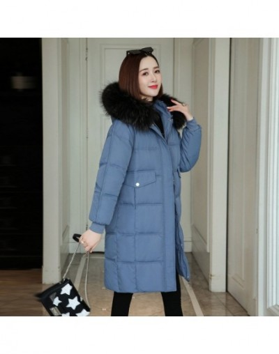 Winter Jacket With Fur Hood new feather long in cotton bread female down parka with collars students winter jacket coat 1903...