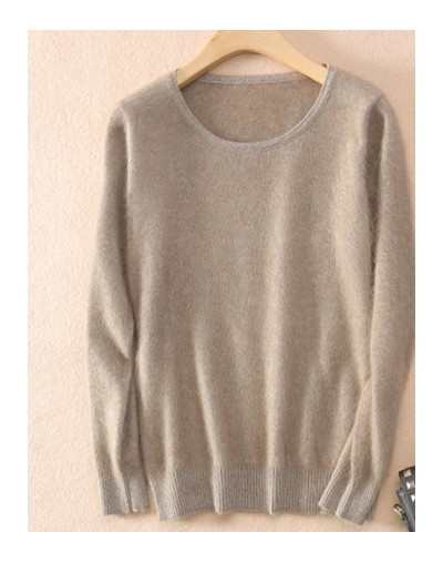2019 Autumn Winter Women Sweater 100% Mink Cashmere Sweaters And Pullover Soft Warm Tops Female O-neck Long Sleeve Basic Swe...
