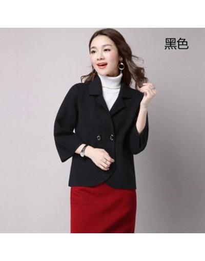 Woolen Coat Female Short Paragraph 2019 Autumn Winter Korean Fashion Solid Color Wool Blazer Women Shawl Coat Office Wear f1...