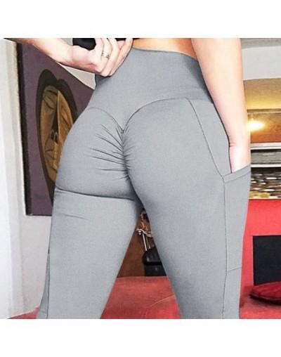 Leggings Women High Waist Fitness Legging Push Up With Pockets Patchwork Workout Leggins Pants Women Fitness Clothing - Pock...