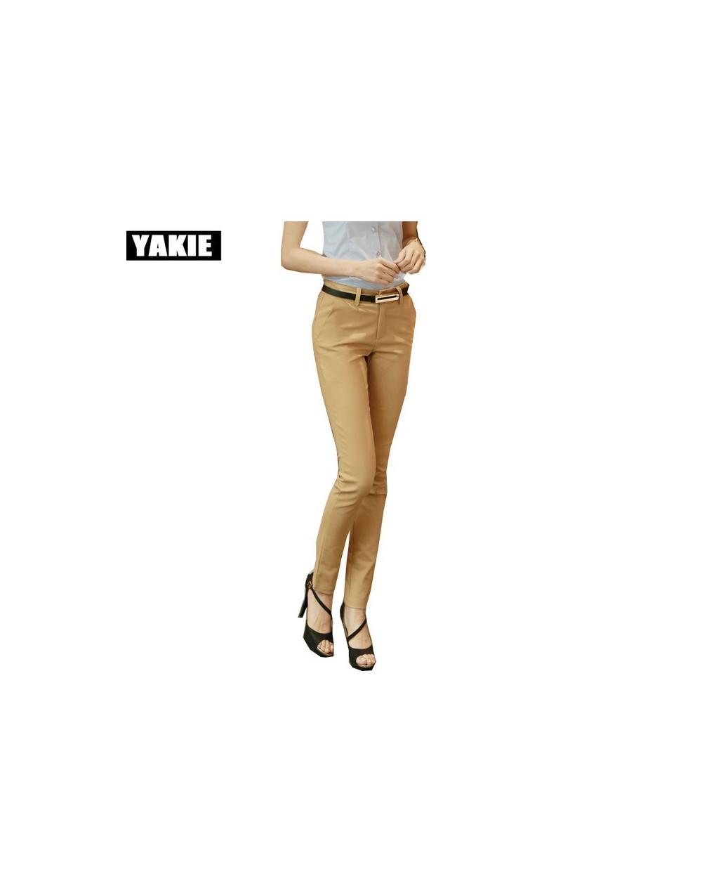 High waist elegant woman office pants trousers work Capris ladies OL formal pencil skinny pants classic for women Plus size ...