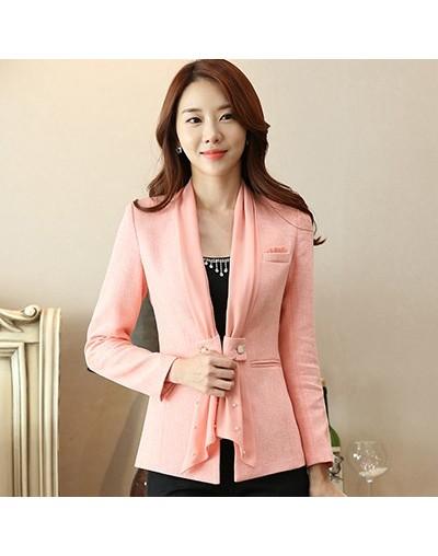 2018 New Formal Long Sleeve Plus Size 4XL Jacket Office Ladies Work Wear Coat Elegant Women Blazer Female Business Wear Blaz...
