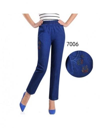 Jeans Women Autumn Denim Breeches Embroidery Jeans Plus Size 5XL High Waist Elasticity Casual Pants Feminine Jean Calf LJ097...