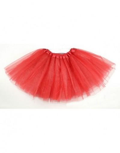 Women Girls casual hot fashion tutu short mini skirts ladies solid high elastic waist party clubwear mini skirts - Red - 4W3...