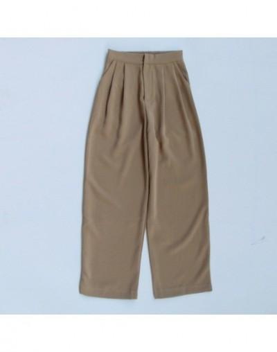 Trouser For Women High Waist Causal Loose Wide Leg Pants Female 2019 Autumn Korean Fashion Elegant Tide - Khaki Pants - 4J30...
