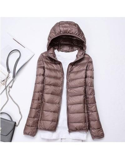 2019 New Ultra light duck down jackets women Hooded winter coat Long Sleeve Warm Slim 6XL plus size jacket lady Clothing - K...