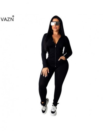 New Nature Free Regular Tracksuits Young Casual Fashion Hooded Zipper Full Sleeve Long Pants Women 2 Piece Set - Black - 5V1...