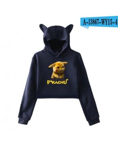movie Pokemon Detective Pikachu 2D print fashion trend sala Cat Crop Top Women Hoodies Sweatshirt Sexy hot clothes - picture...