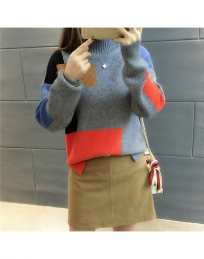 2019 Women Sweaters And Pullovers Elegant Turtleneck Sweater Women Jumper Autumn Mixed Colors Knitted Pullover Pull Femme C3...