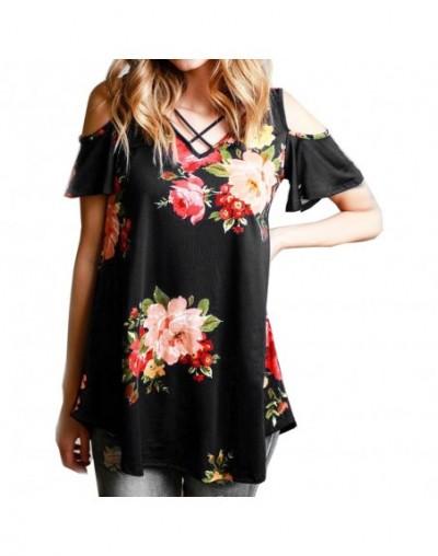 2018 custom color top strapless shoulder strap floral print top blusa feminina vestidos HV31 - HV59 - 2J111118467738-22
