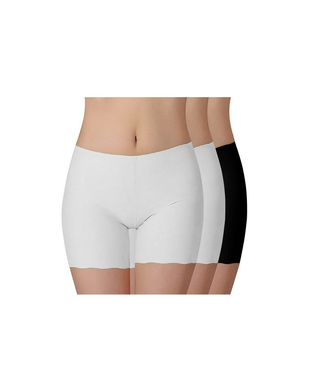 3PCS/set Women Safe Short Legging Sexy Ice Silk Short Women Trouser Fashion Under Skirt Legging Seamless Stretch Pant - 5 - ...