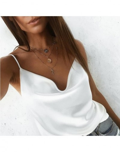 women shirt sleeveless solid colored white green blue grey vest for girl fashion clothing - Q5-WR - 59111214909895-18