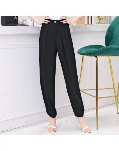 Summer Women Harem Pants 2019 Spring Casual Vintage Elastic Waist Trouser High Quality Women Cotton Linen Pants Plus Size 5X...