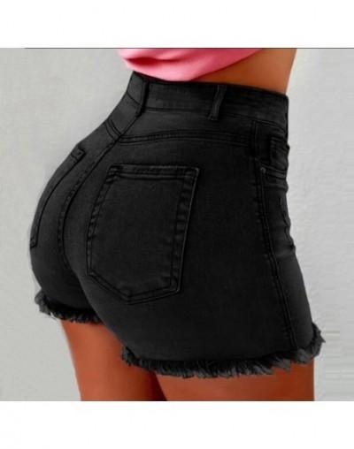 Ultra-short High Waist Jean Shorts Women 2019 Summer Casual Tassel Straight Cotton Short Feminino Streetwear - black - 5U111...