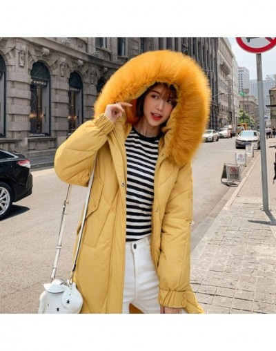 2019 winter jacket women casual parka with large fur collar down cotton jacket Windproof female Hooded warm Coat casaco femi...