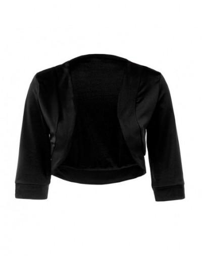 Women Blazers Suit Women Fashion Casual Short Blazers Solid Office Lady Coat Jacket Tops Suit Women Clothing - Black - 48309...