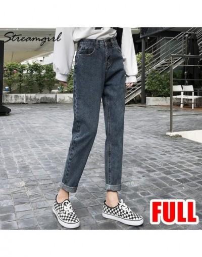 Ladies Jeans Boyfriend For Women Loose Harem Jeans Woman High Waist 2019 Black Jean Femme Denim Pants Capris Spring - Blue g...
