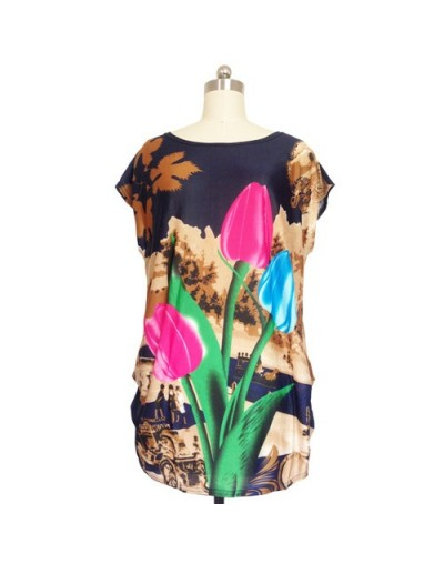 NEW 2018 spring summer women casual print short sleeve o-neck tops & tees plus size loose t shirts tunic 5XL - 15 - 43306305...