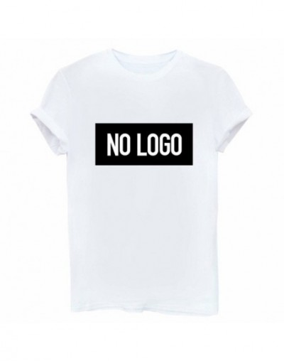 NO LOGO Letters Print Women tshirt Cotton Casual Funny t shirts For Lady Top Tee Hipster Drop Ship Tumblr SB12 - White - 4M3...