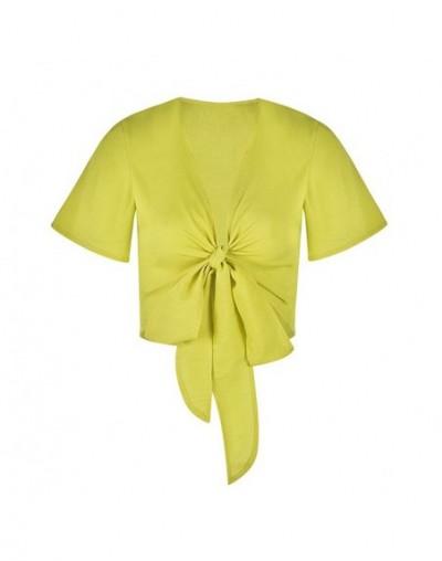 solid color shirt for women summer beach style short sleeve sexy fashion girl elegant lady shirt elegant lady clothing drops...