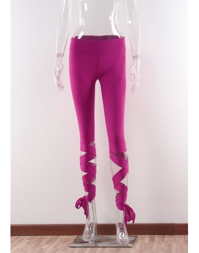 GERTU 2018 New Arrival Black Bandage Cross Leggings Women High Waist Fashion Sporting Pants Fitness Gymming Lady Capris Legg...