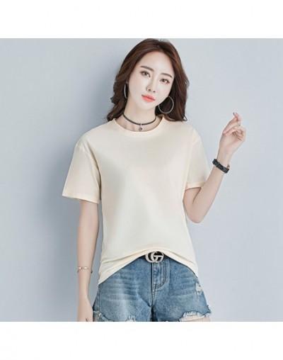 White Tshirt Women Clothes Cotton Summer Tops Female T-shirt Top Short Sleeve Black korean Tee Shirt Femme New 2019 Yellow B...