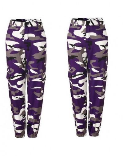 Orange Camouflage Pants Women Sweatpants Purple Pink Camo Pants Pantalon Femme Trousers Cargo Harem Pantalones Mujer - DN052...