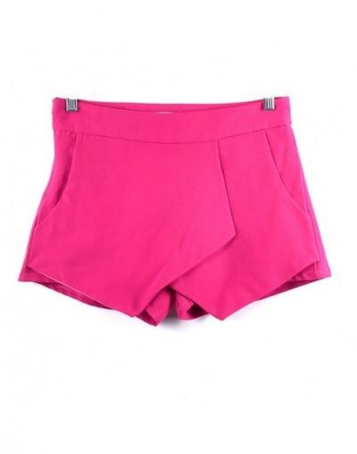 2019 Summer Style Short Pant Women Fashion Casual Womens Tiered Irregular Zipper Culottes Short Shorts Skirt Trousers - Rose...