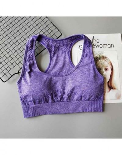 Summer Women Seamless Push Up Tank Top Pink Crop Tops Fitness Sexy Bra Femme Slim Solid Sportswear Sleeveless Vest Tops - W8...