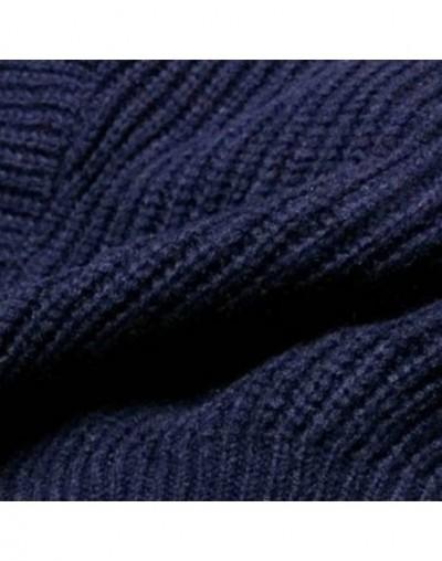 Autumn Winter Knitted Sweater Tops Female V Neck Batwing Sleeve Loose Irregular Hem Women's Sweaters Korean Fashion New - Gr...