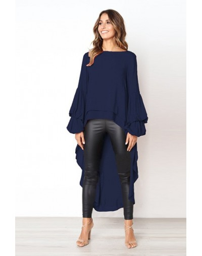 2019 Women's Autumn and Winter Long Sleeve Chiffon Shirt Irregular Chiffon Blouse Women Fashion Blusas Mujer De Moda 2019 - ...