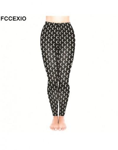 New Brand Female Workout Pants High Waist Fitness Legging Moons Black 3D Printed Leggins Women Leggings Slim Trousers - 1 - ...