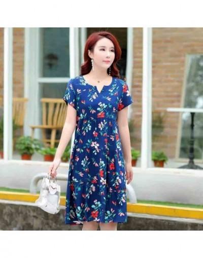 2019 Tops New arrival women summer dress print plus size women casual short sleeve dresses vestido de festa - color 19 - 4Y3...