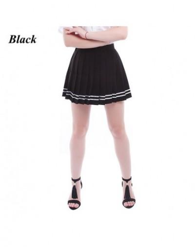 New Women Summer Patchwork Black Chiffon Pleated Skirt School Patterns Preppy Sweet Style Skirt Large Size S-4XL - GC32D - 4...